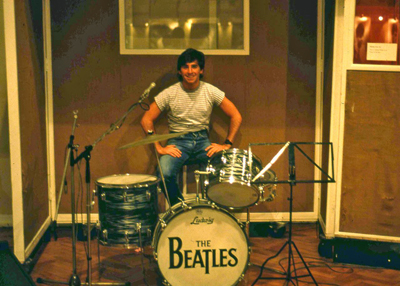 Brian at Abbey Road in 1983.